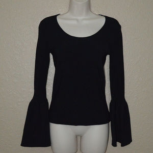 Sz S Elizabeth and James Black Bell Sleeve Sweater